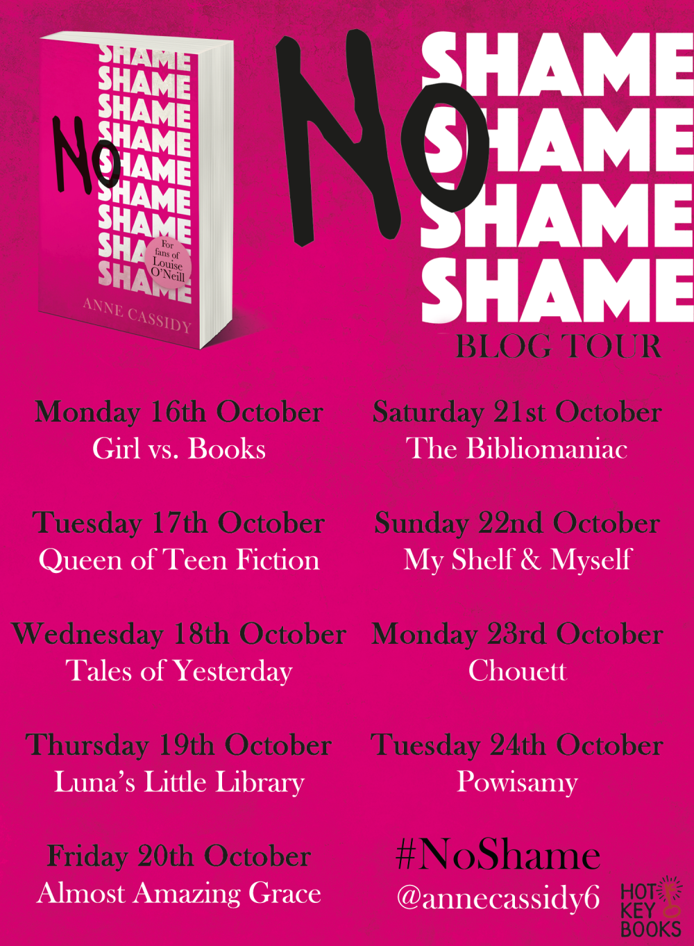 No Shame Blogger Tour Banner